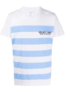 Helmut Lang striped logo T-shirt