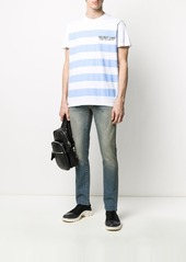 Helmut Lang striped logo T-shirt