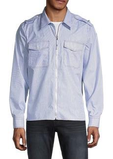 Helmut Lang Striped Shirt-Jacket