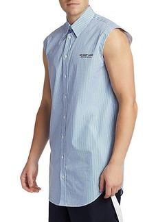Helmut Lang Striped Sleeveless Shirt