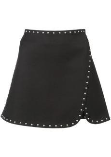 Helmut Lang stud detail mini skirt
