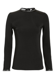 Helmut Lang Studded Jersey Knit Top