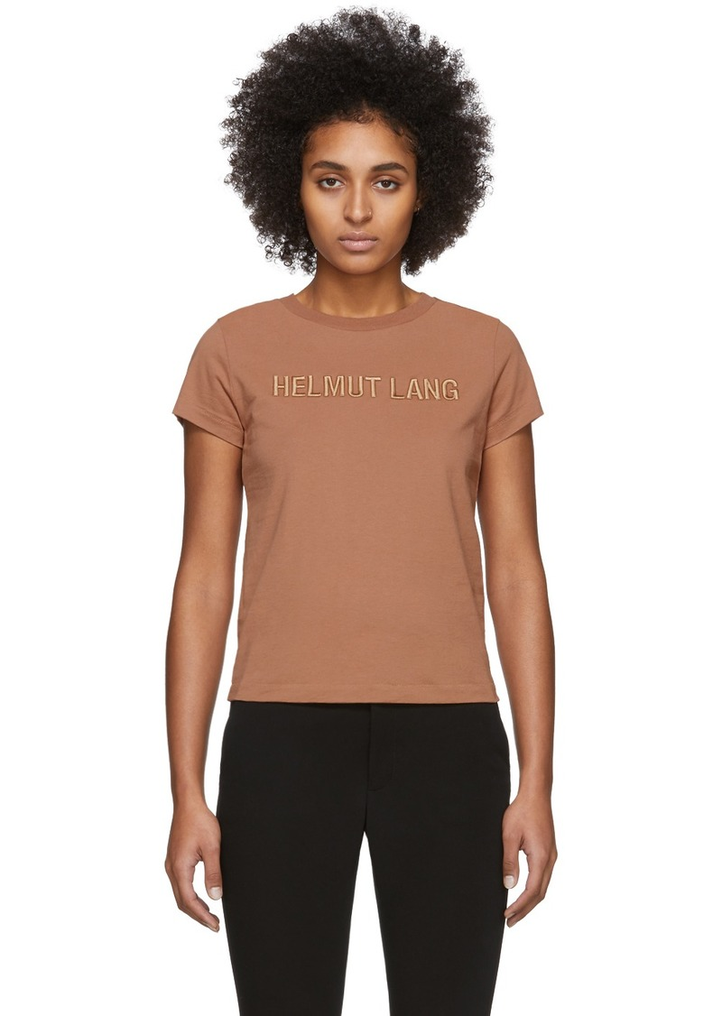 Helmut Lang Tan Standard Baby T-Shirt