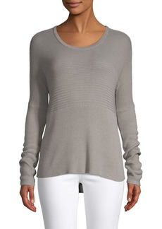 Helmut Lang Textured High-Low Sweater