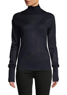 Helmut Lang Turtleneck Cashmere-Blend Sweater