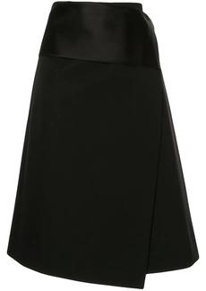Helmut Lang Tuxedo wrap skirt