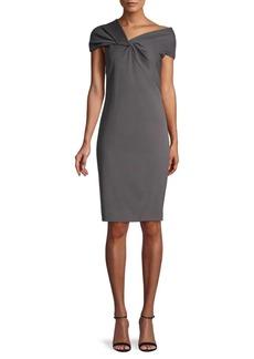 Helmut Lang Twist Asymmetrical Neckline Dress