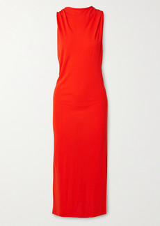 Helmut Lang Twist-back Stretch-crepe Midi Dress