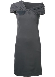 Helmut Lang twist neck pencil dress
