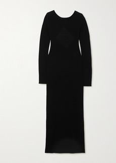 Helmut Lang Twisted Open-back Wool Maxi Dress