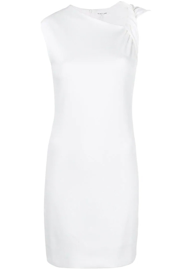 Helmut Lang twisted shoulder shift dress