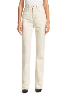 Helmut Lang Under Construction Femme High Waisted Bootcut Jeans