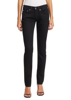 Helmut Lang Under Construction Masc Low-Rise Drainpipe Skinny Jeans