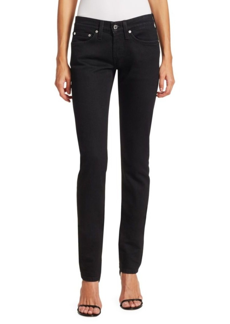 Helmut Lang Under Construction Masculine Drainpipe Low-Rise Skinny Jeans