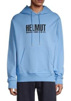 Helmut Lang Unisex Logo Graphic Textured Hoodie