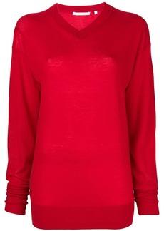 Helmut Lang V-neck balloon sleeve sweater
