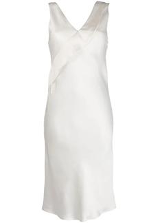 Helmut Lang v-neck fitted dress
