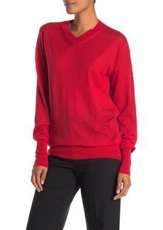 Helmut Lang V-Neck Seam Cashmere Pullover Sweater