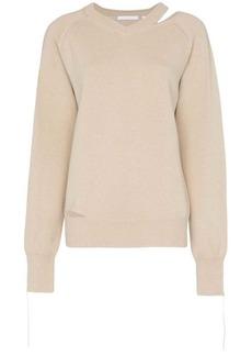 Helmut Lang V-Neck Slash Detail Sweater