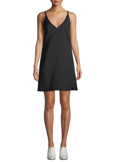 Helmut Lang V-Neck Sleeveless Nylon Mini Dress