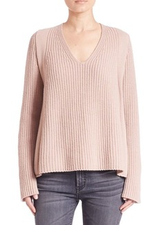 Helmut Lang V-Neck Wool Sweater