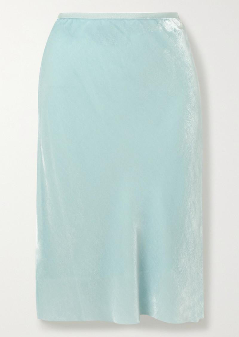 Helmut Lang Velvet Skirt