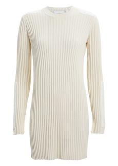Helmut Lang Velvet-Trimmed Rib Knit Dress