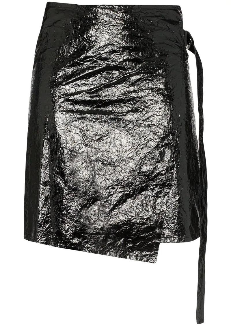 Helmut Lang vinyl wrap skirt