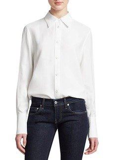 Helmut Lang Viscose Button-Down Shirt