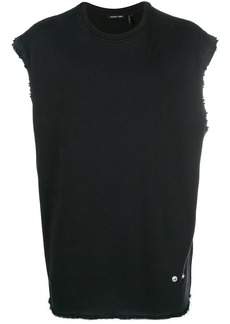 Helmut Lang washed frayed tank
