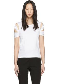Helmut Lang White Bondage Sleeve T-Shirt