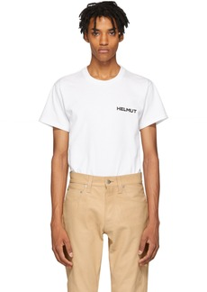 Helmut Lang White Brian Roettinger Logo Hack T-Shirt