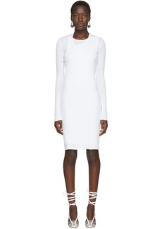 Helmut Lang White Double Layer Dress