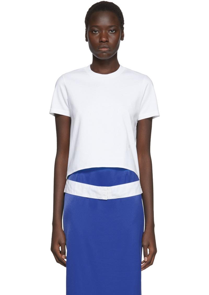 Helmut Lang White Femme Belt t-Shirt