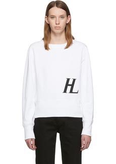Helmut Lang White Femme Crew Sweatshirt