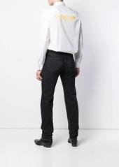 Helmut Lang white logo formal shirt