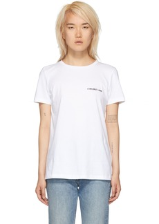 Helmut Lang White Logo T-Shirt