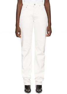 Helmut Lang White Masc Hi Straight Jeans