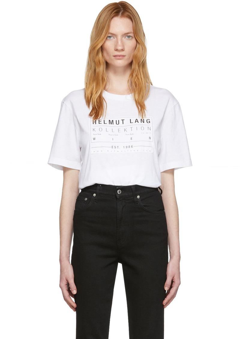 Helmut Lang White Patch T-Shirt