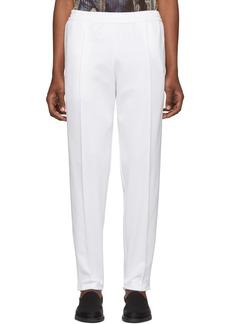 Helmut Lang White Stirrup Track Pants