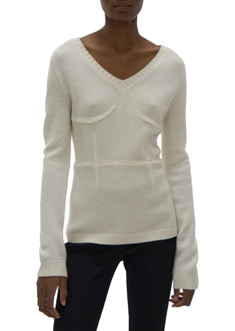 Women's Helmut Lang V-Neck Wool Sweater