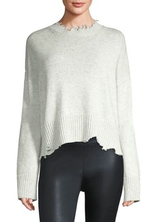 Helmut Lang Wool & Cashmere Distressed Pullover