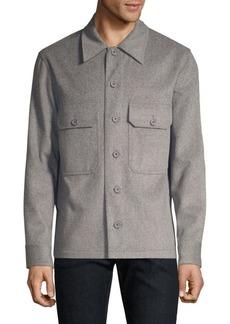 Helmut Lang Wool-Blend Shirt-Jacket