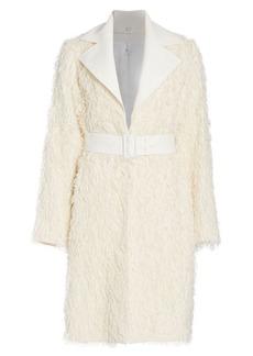 Helmut Lang Wool Fringe Coat