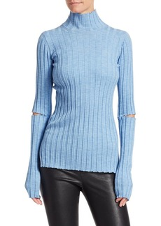 Helmut Lang Wool Slash Turtleneck Sweater