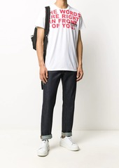 Helmut Lang words print short sleeve T-shirt