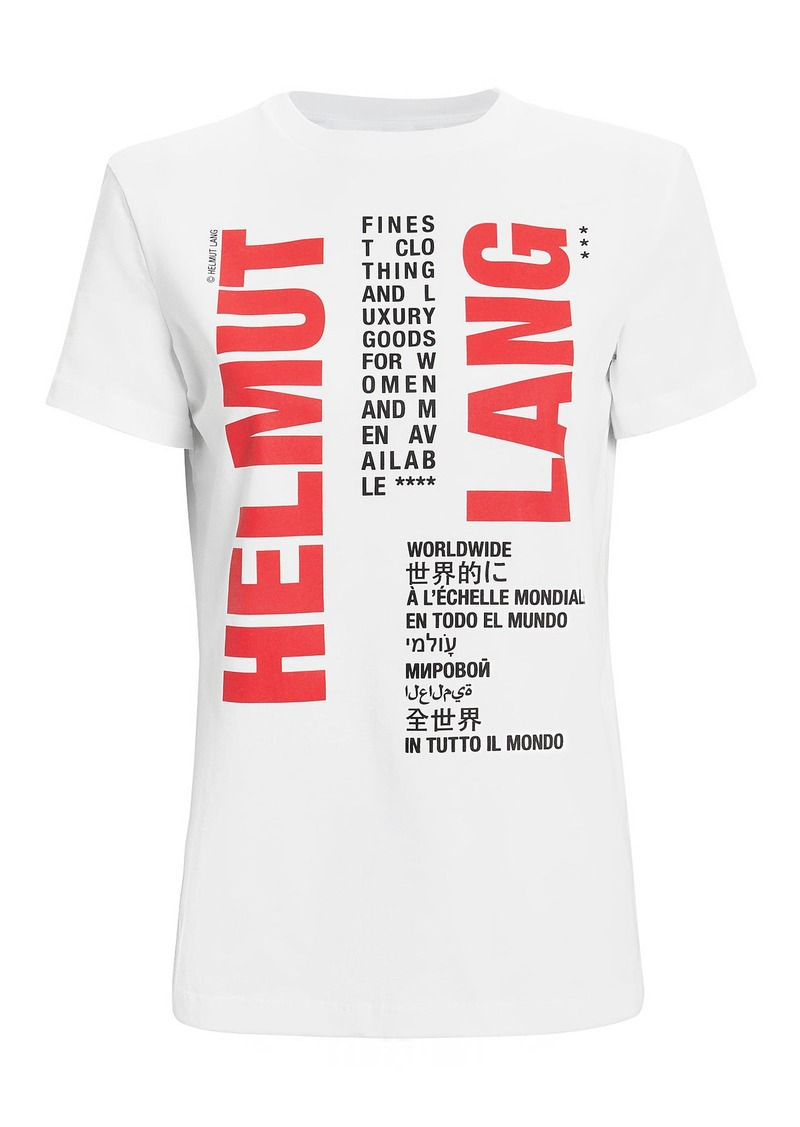 Helmut Lang Worldwide Graphic T-Shirt