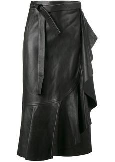 Helmut Lang wraparound leather skirt