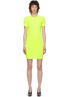 Helmut Lang Yellow Essential Mini Dress