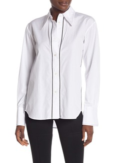 Helmut Lang Zigzag Embroidered Button Shirt